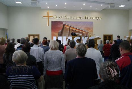 Пасхальное служение в Украине